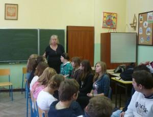 Warsztaty uczniów PG nr 1 w Warce z psychoterapeutką P. Hanną Romecką