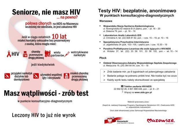 Testy HIV: bezpłatnie, anonimowo